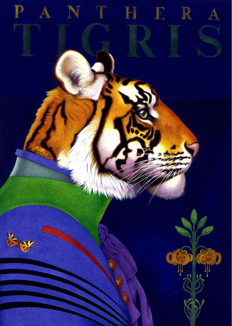 Carol Lawson, Personify handpainted portrait of a tiger