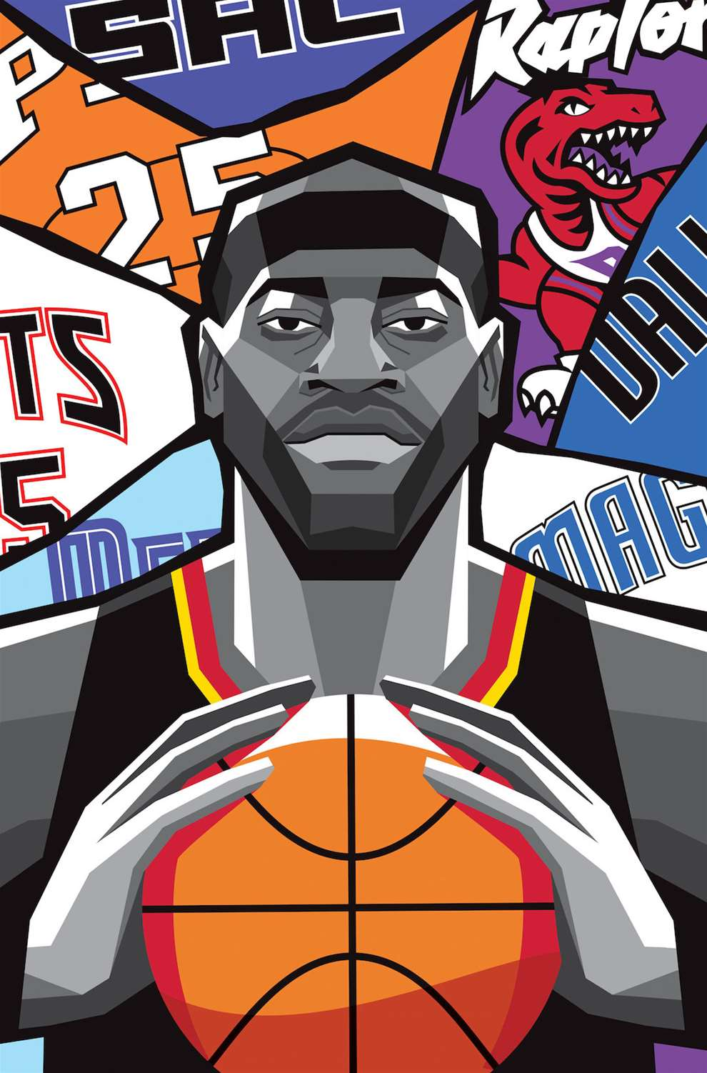 Dale Edwin Murray, Digital and bold Poster  artwork commissioned by the NBA to celebrate Vince Carter's retirement.
