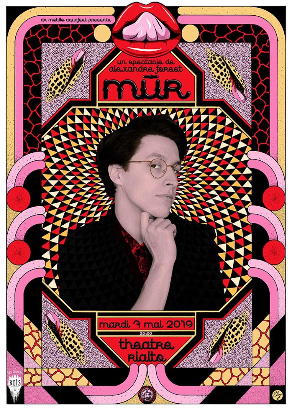 Elzo Durt, Elzo Durt Psychedelic, bold and graphic decorative design.