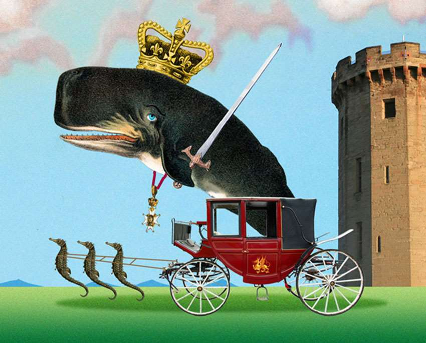 Lou Beach, Prince of Whales collage
