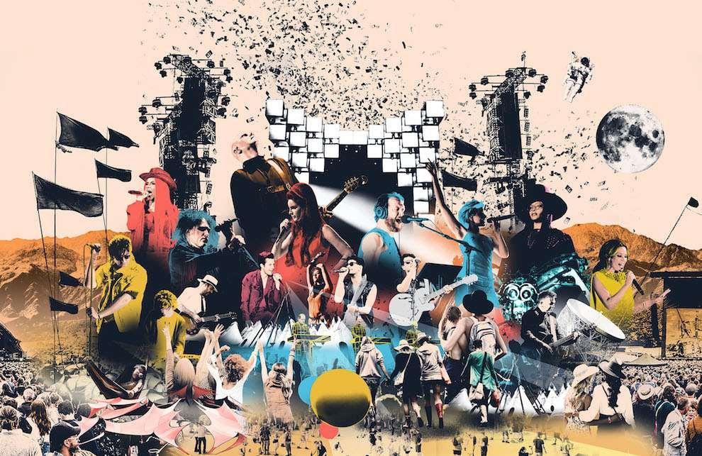 Mario Wagner, Mario Wagner Glastonbury Collage Illustration