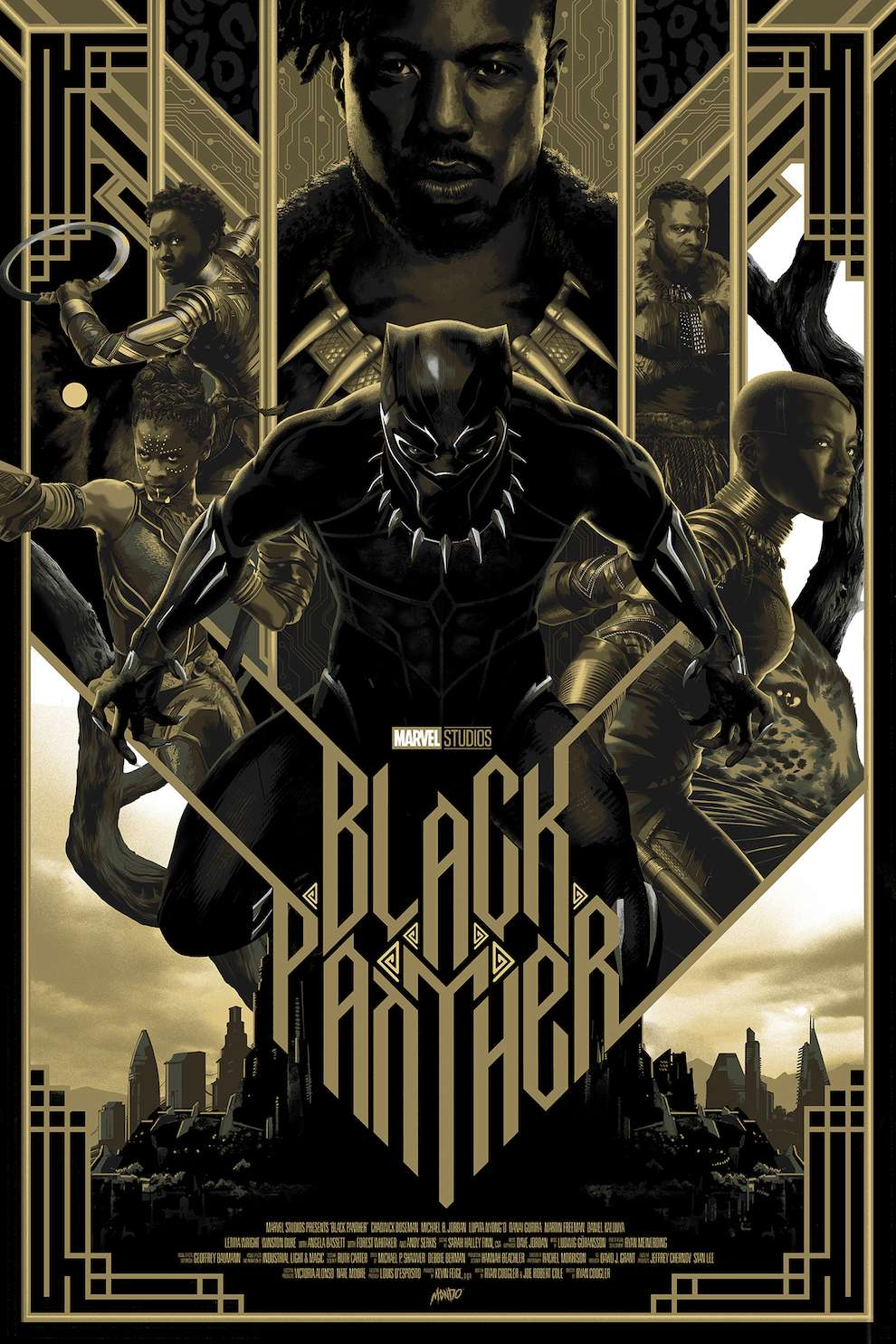 Matt Taylor, Digital & textural illustration of Black Panther film poster
