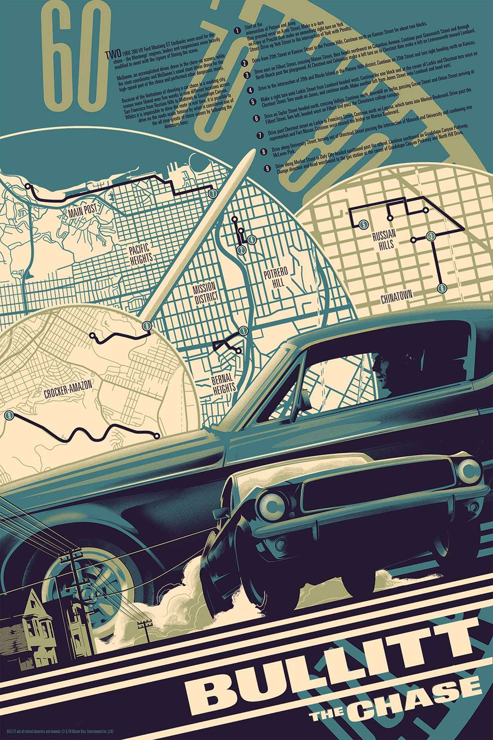 Matt Taylor,  Retro poster art of a car and a map