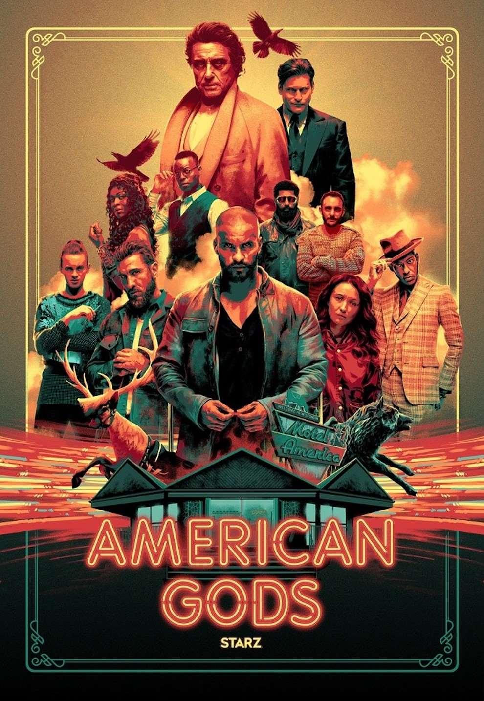 Matt Taylor, Digital film poster illustration of american gods