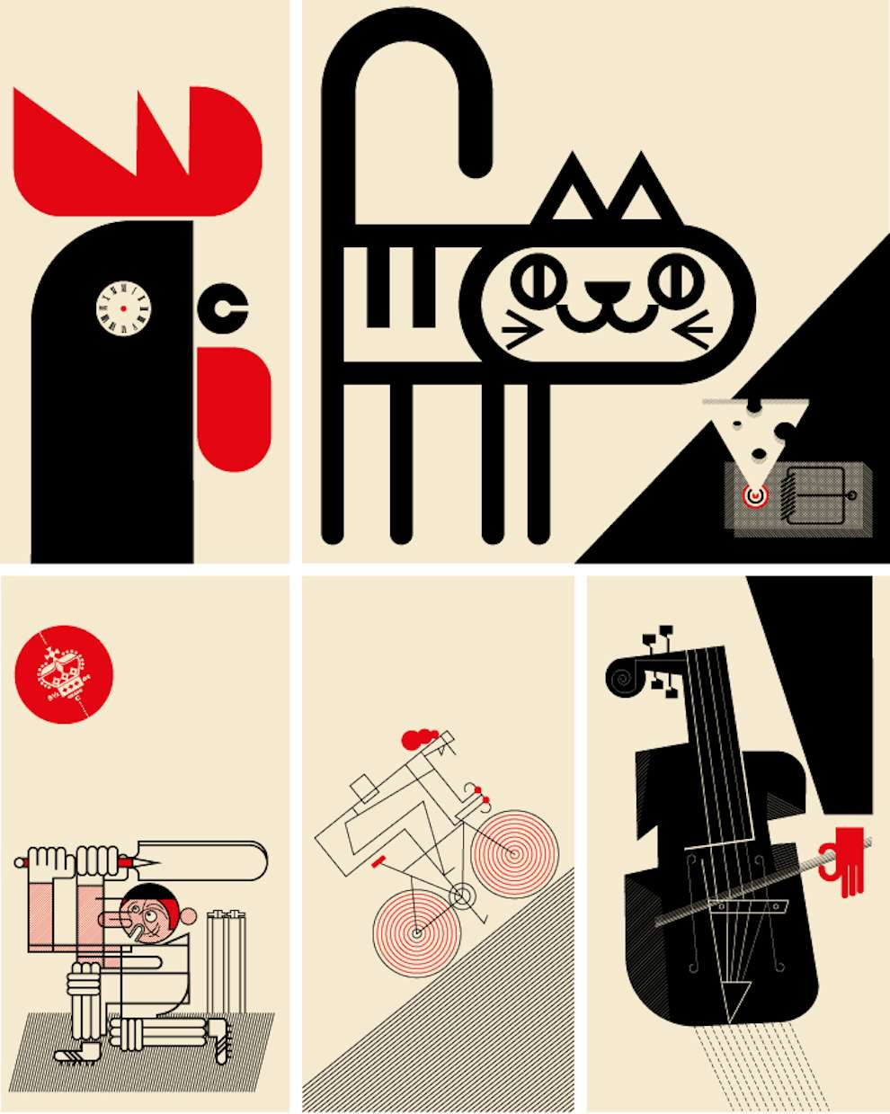 Mick Marston, Bold and graphic illustration alphabet - Letter C