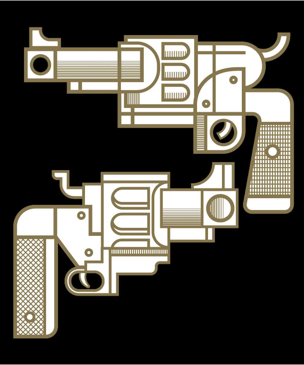 Mick Marston, Graphic and minimal illustration of guns
