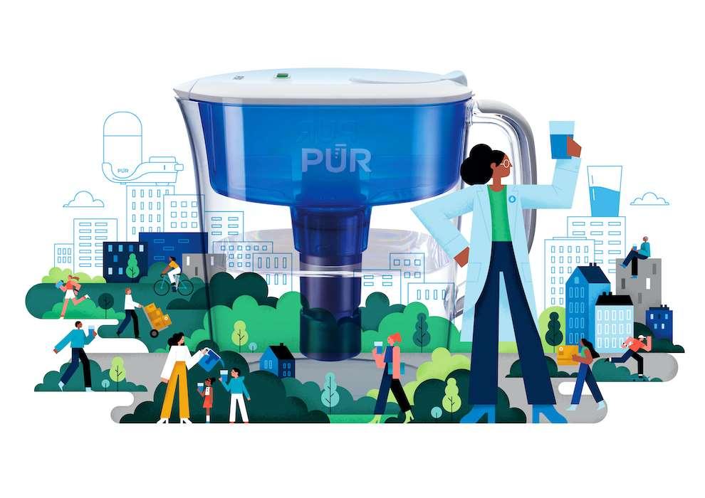 Parko Polo, Vector graphic illustration of a city