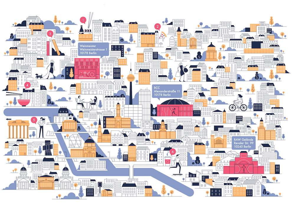 Parko Polo, Graphic intricate city map