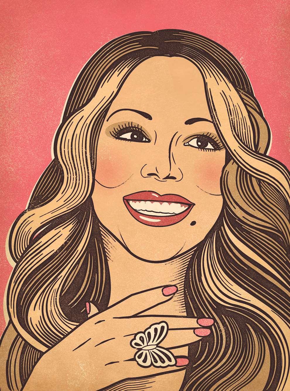 Susan Burghart, Digital portrait illustration of Maria Carey