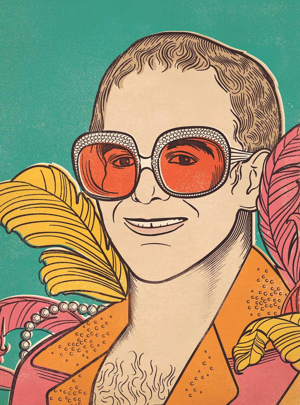 Susan Burghart, Elton John portrait