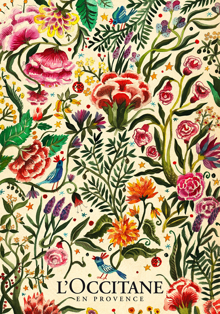 botanical, illustration, folk, modern, mural, wildlife, animals, painterly, pattern, plants, flowers, folk art, romanian, victorian, hertiage, tactile, landscapes, william morris, dreamy, painting, illustrators, packaging, foliage, leaves, l'Occitane