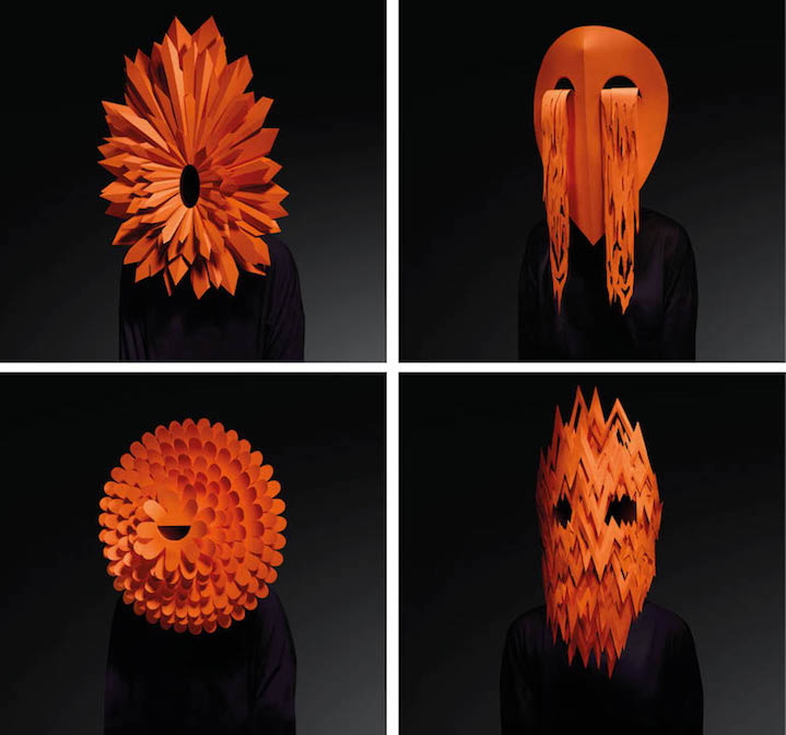 Andy Singleton, Conceptual hand crafted paper mask based on emotion for biennale design