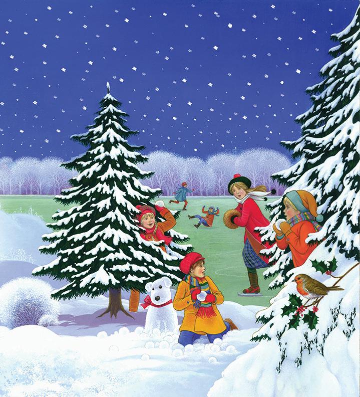 Carol Lawson, Traditional handpainted Christmas scene