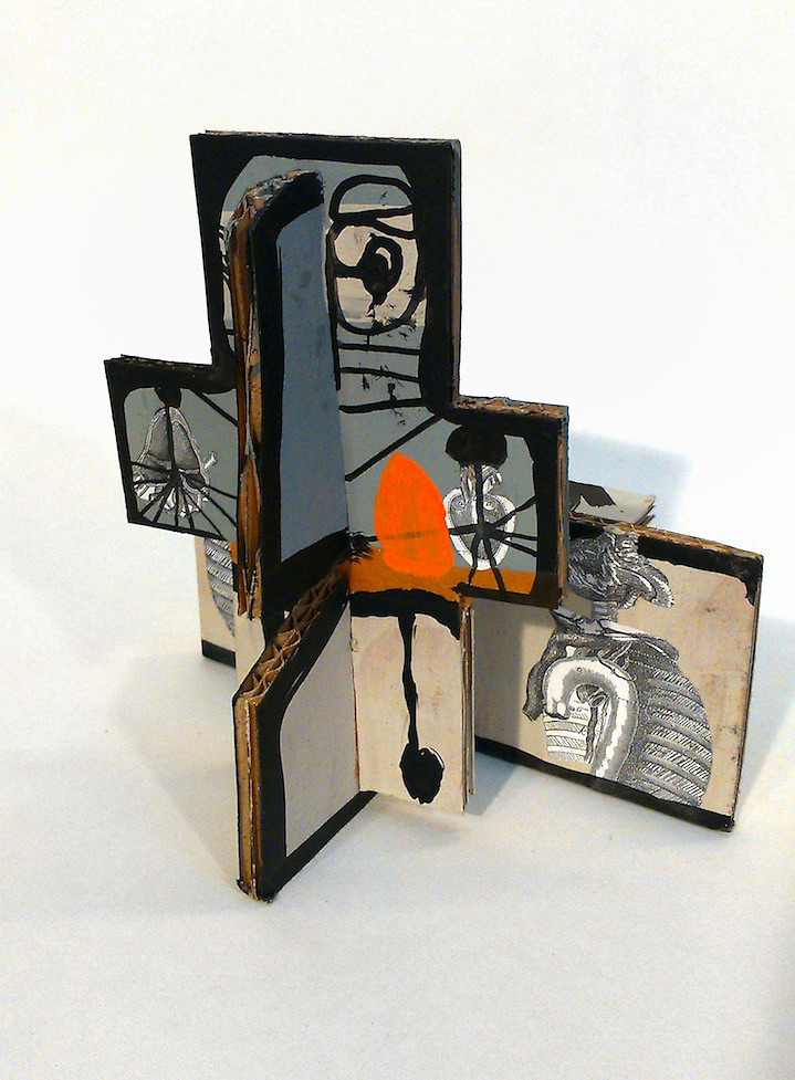 Chris Gilvan Cartwright, Abstract cardboard sculpture