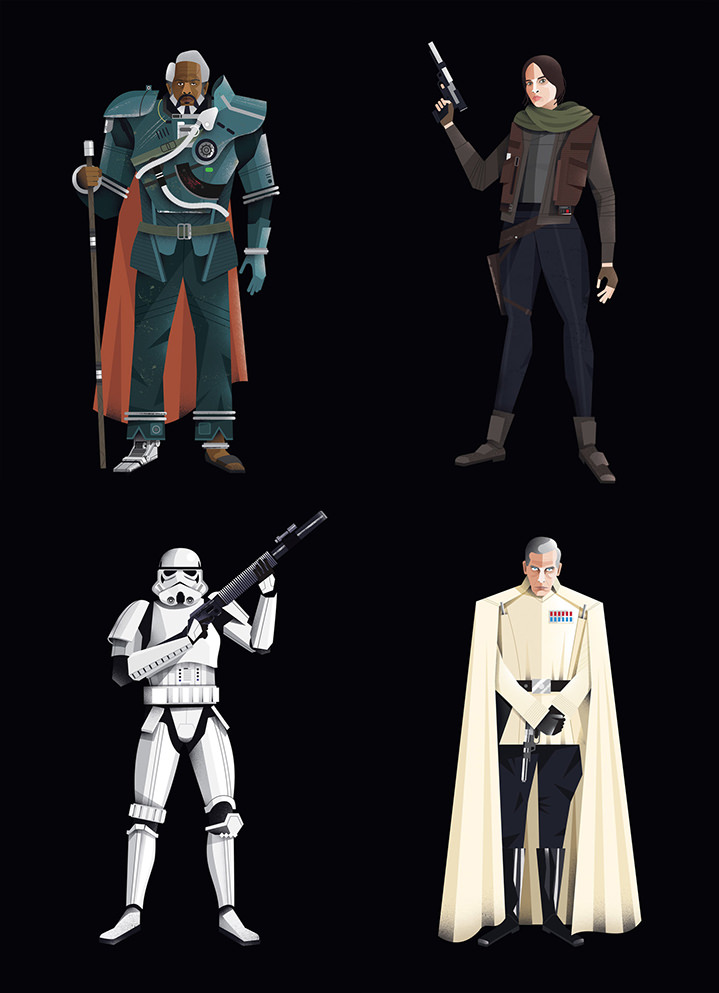Dale Edwin Murray, Digital illustration using vectors of star wars characters