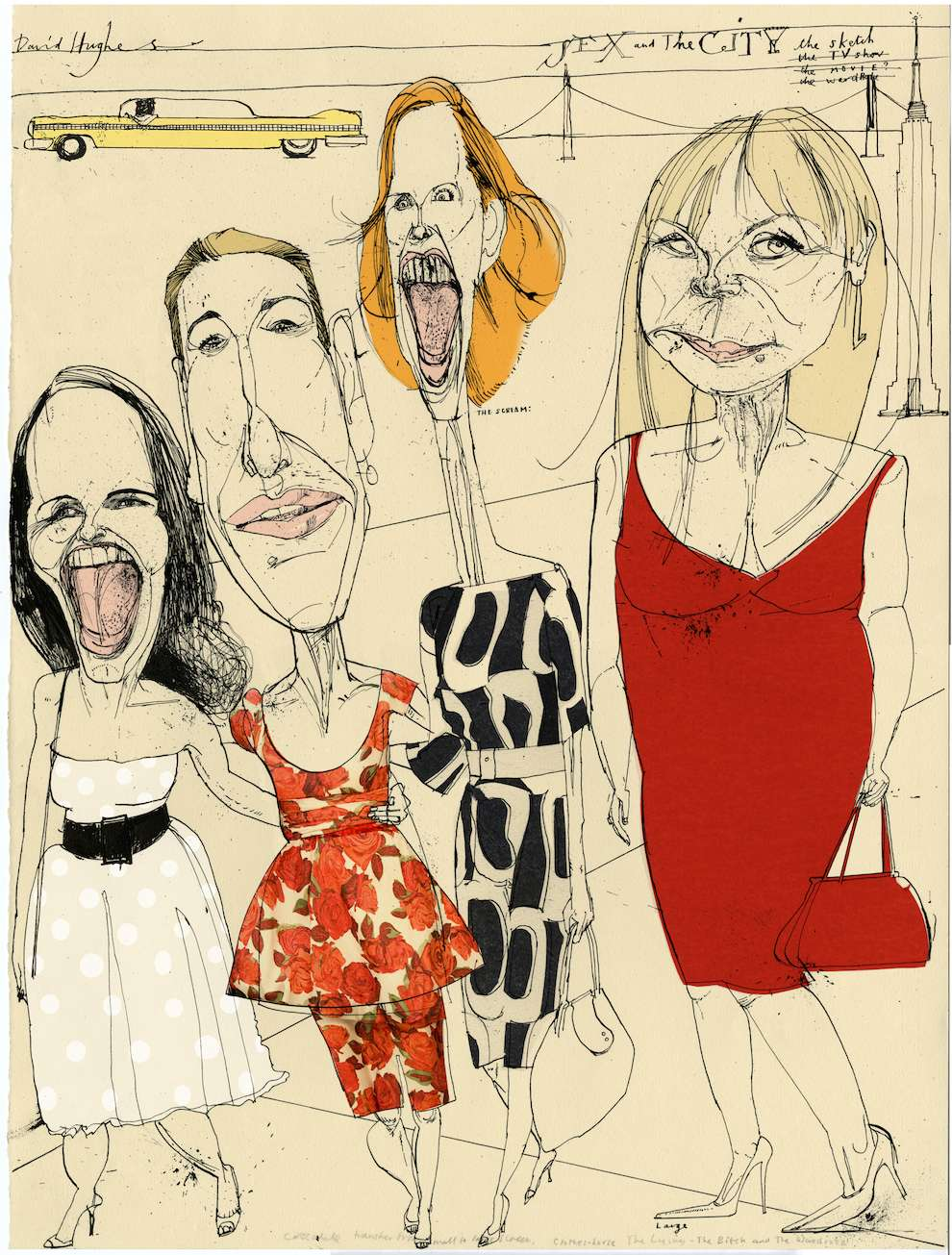 David Hughes, Caricatural portrait of sex & the city characters