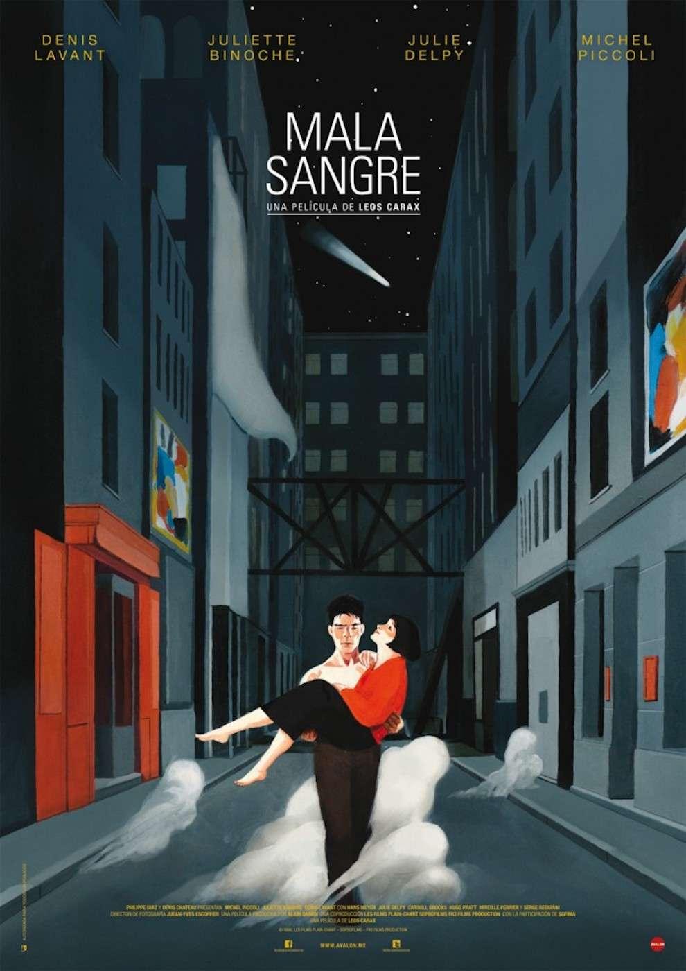 David De Las Heras, Handpainted movie poster in a dark alleyway. Man carrying a woman