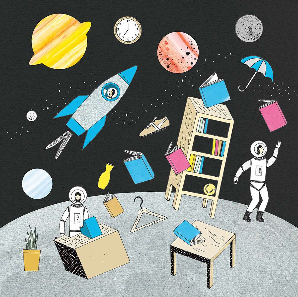 Harriet Russell, Hand-drawn space illustration