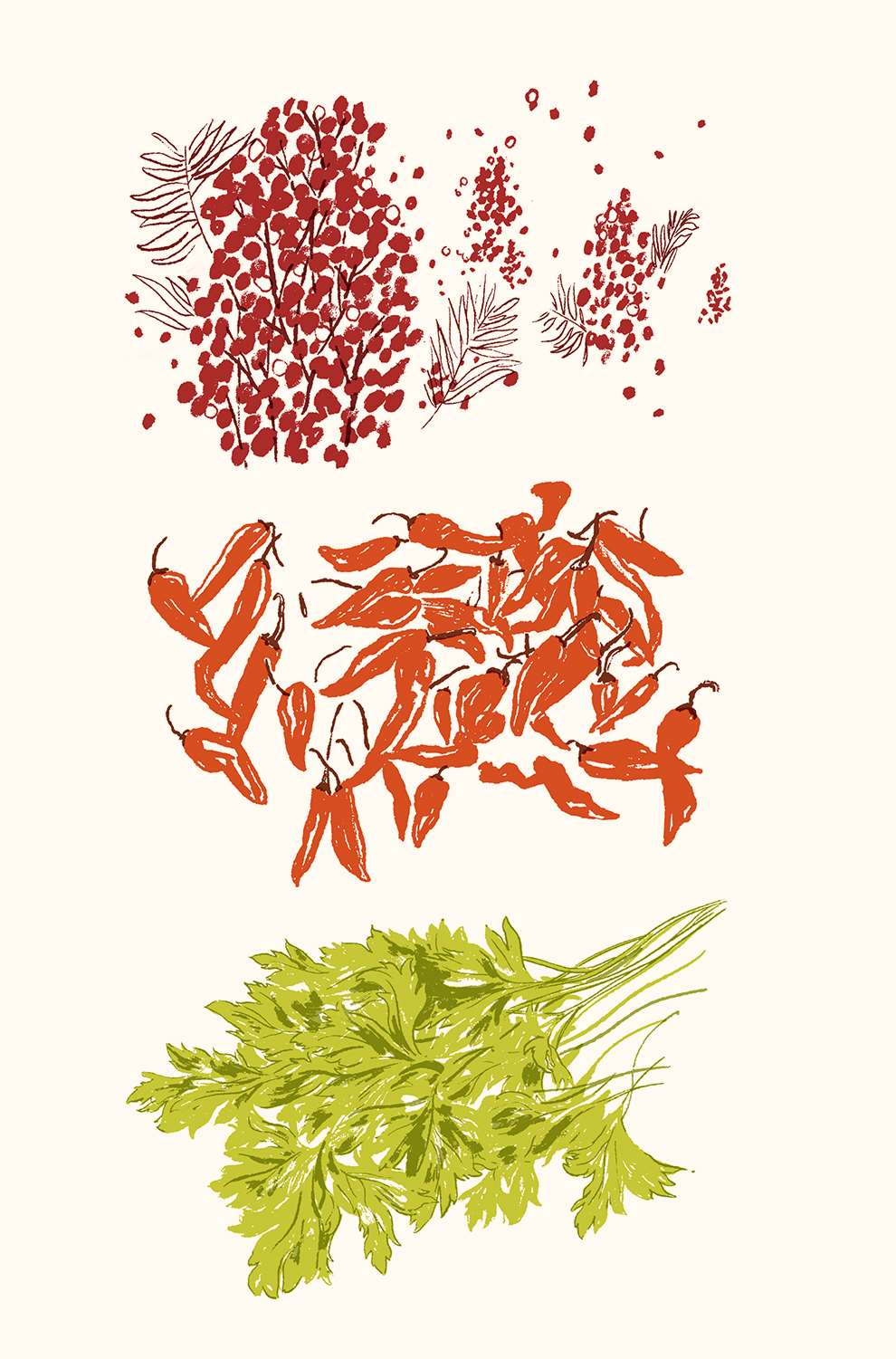 Harry Tennant, Illustration of spices