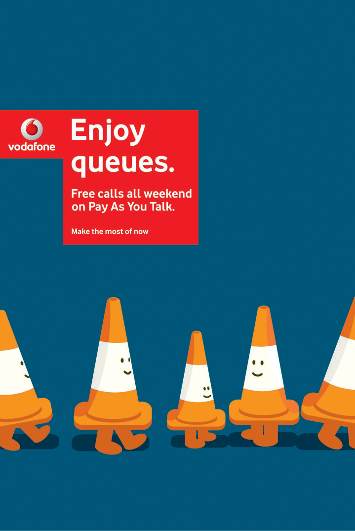 Ian Bilbey, Digital illustration for Vodafone campaign
