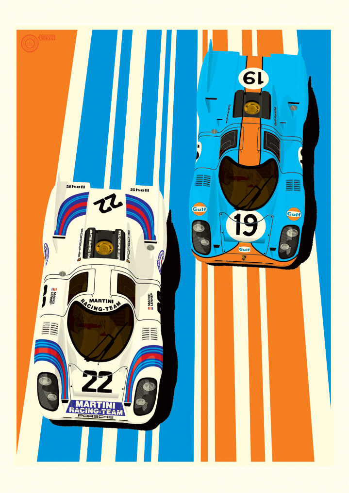 Ian Bilbey, Illustration, design, vectors, cars, automotive, posters