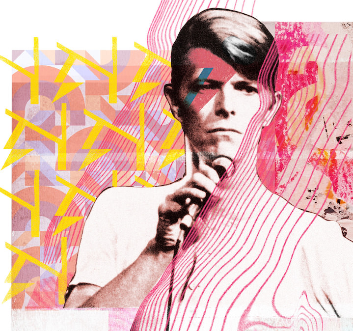Jackie Parsons, Collage of David Bowie for an editorial commission