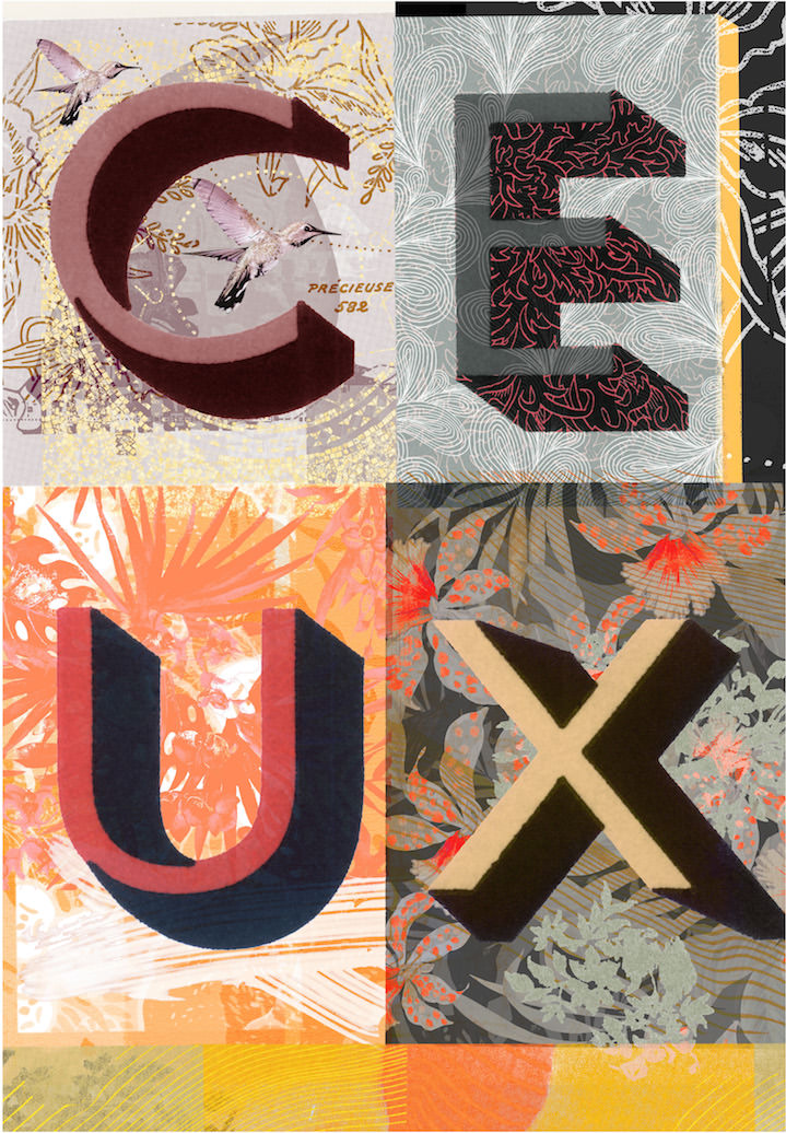 Jackie Parsons, Typography collage