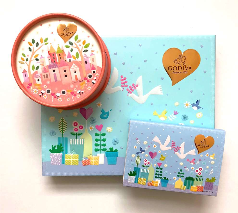Jessie Ford, Packaging for Godiva chocolate