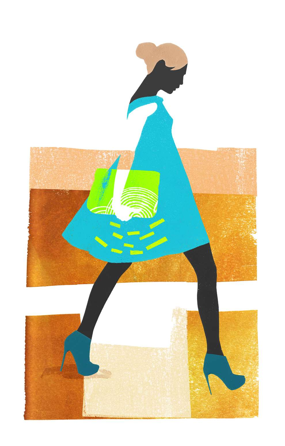 Jessie Ford, Digital illustration of a woman walking