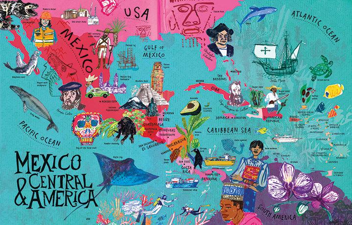 Jill Calder, Central America map
