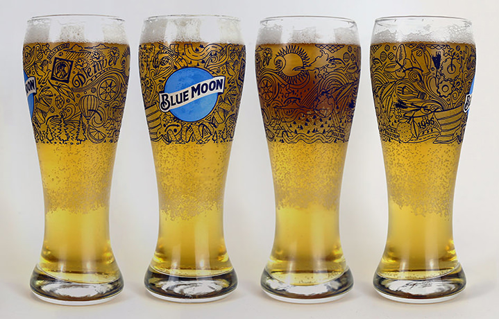 Jitesh Patel, doodle art using fine line for a beer packaging