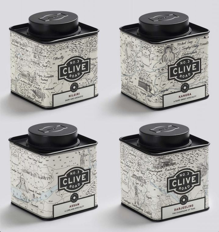 Jitesh Patel, map used on a tea packaging