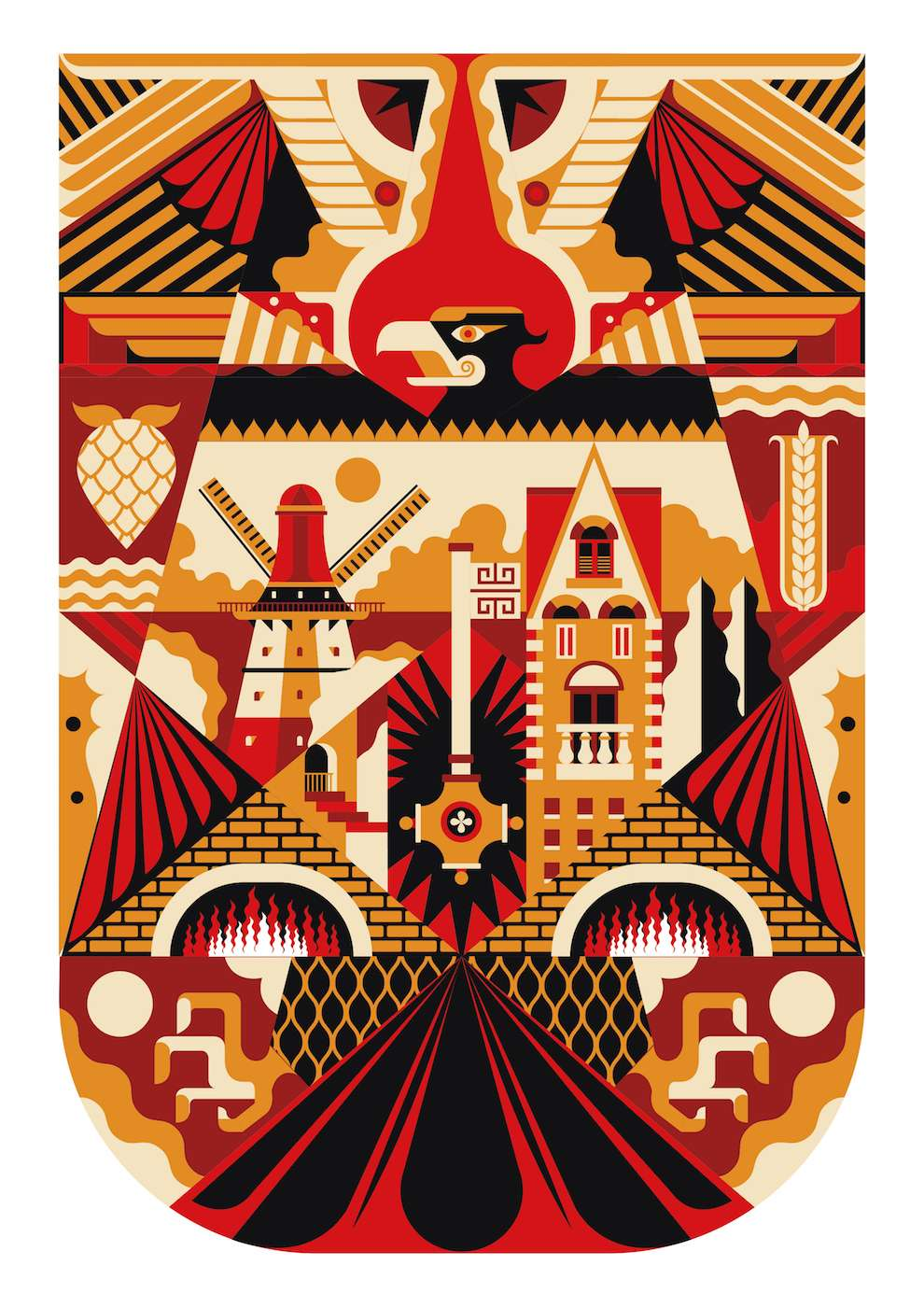 Jonny Wan, Bold and graphic illustration