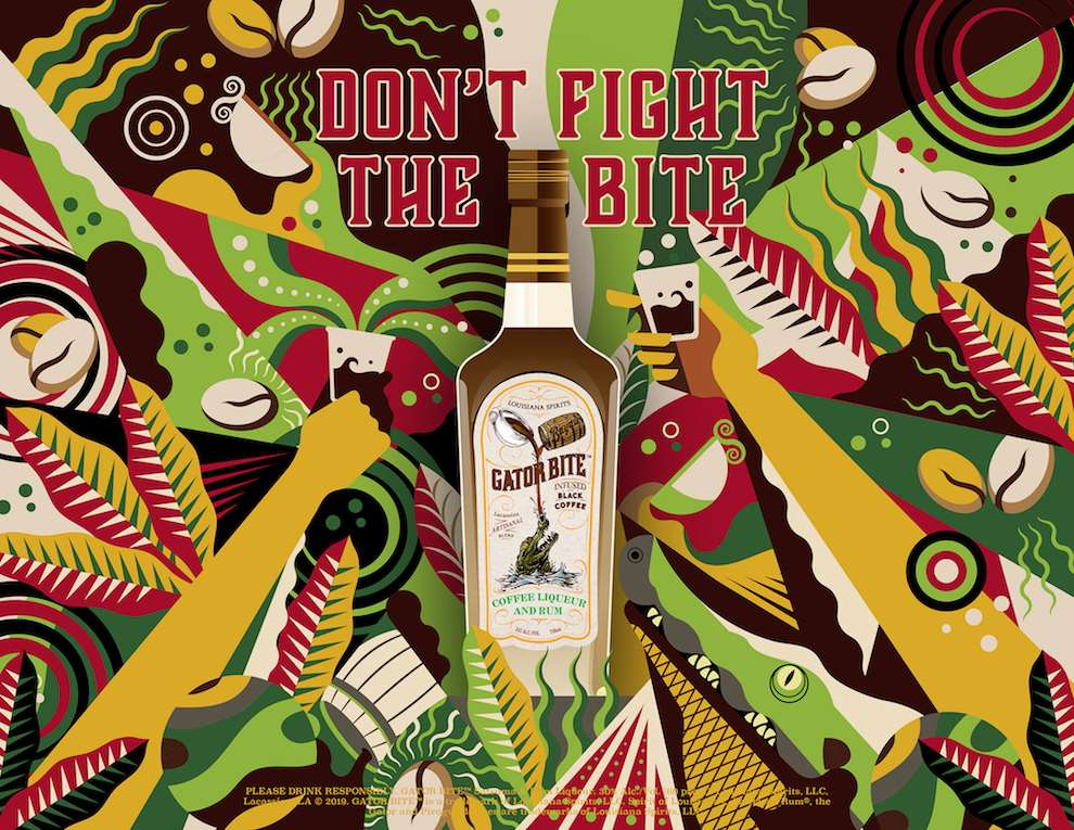 Jonny Wan, Bold and graphic summery digital illustration for an alcohol brand