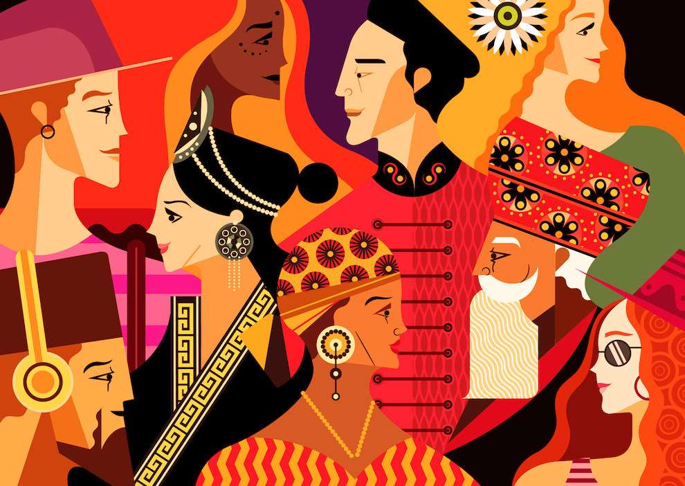 Jonny Wan, Graphic, colourful style postcard illustration for British Airways set 'The Art of Travel.'