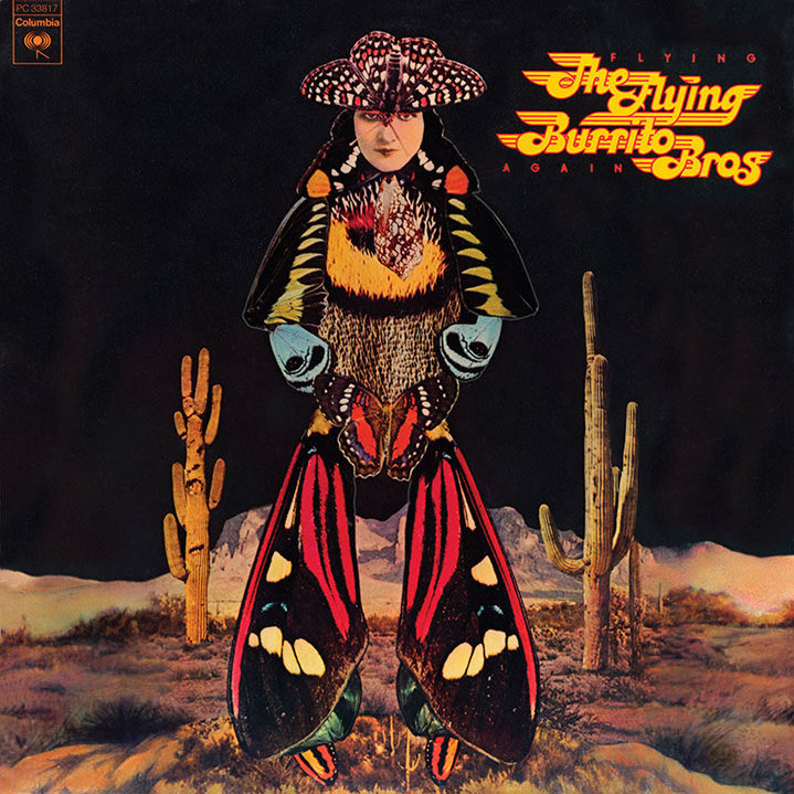 collage, record, sleeve, american, the flying burrito bros, people, characters photography, hand drawn, lou beach, band, newspaper, layers, music, album, cover, retro, surrealist, illustration, graphic, butterfly, abstract, conceptual, landscape