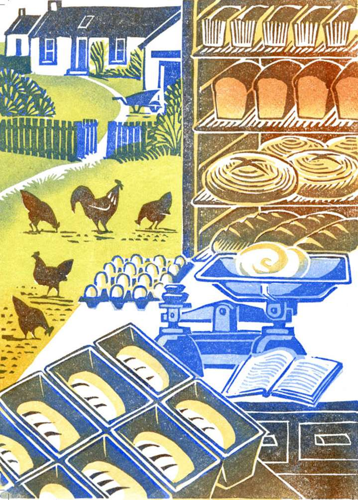 Clare Melinsky, clare melinsky, linocut, print, ink, hand printed, heritage, publishing, traditional, illustration, illustrator, scenery, landscape,  nature