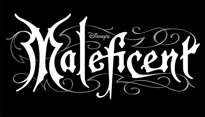 Michael Doret, Typography for Disney movie maleficient on a black background