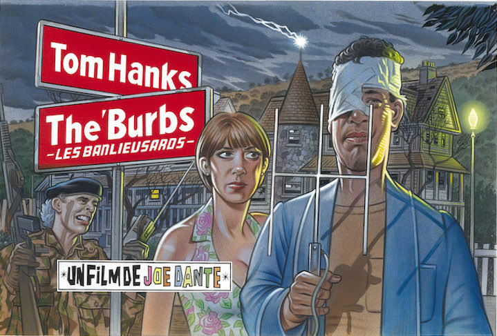 Mick Brownfield, Painterly illustration of Tom Hanks in the movie The Burbs