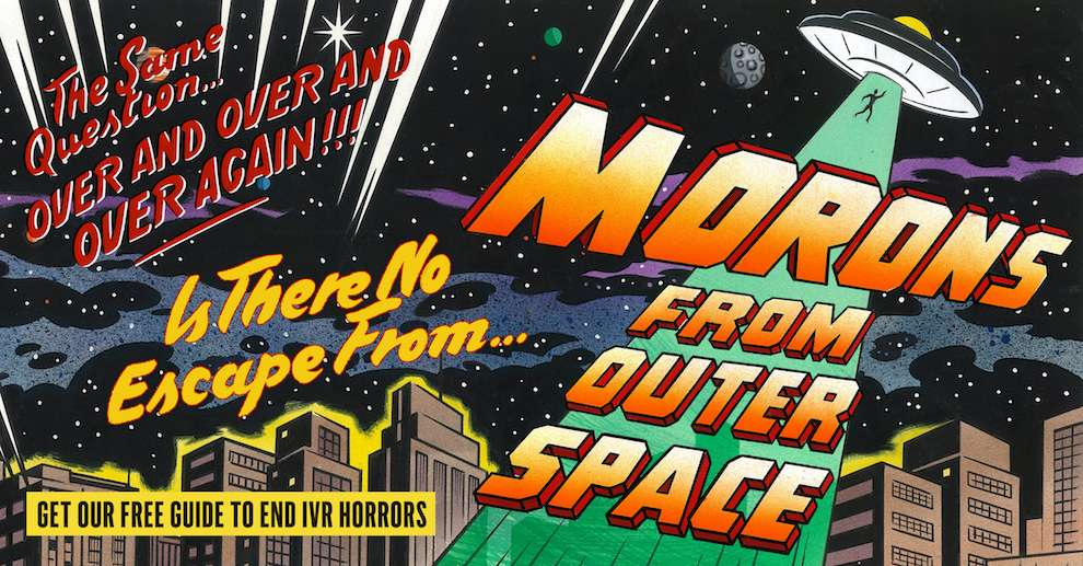 Mick Brownfield, Handpainted retro illustration with type of a space ship in a city scenery at night. Inspired by 1950's horror B-movie poster