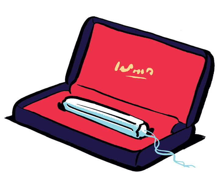 Nishant Choksi, Witty illustration of a tampon in a jewellery box