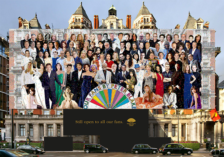 Sir Peter Blake, Collage of celebrities on hoarding campaign