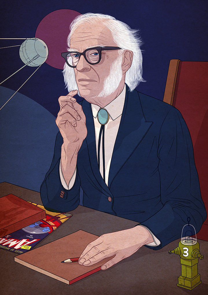 Richard Wilkinson, Portrait of a scientist in a realism illustration style.