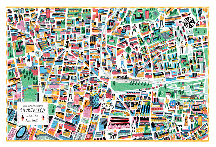 Ruby  Taylor, illustration, maps, drawn, colour