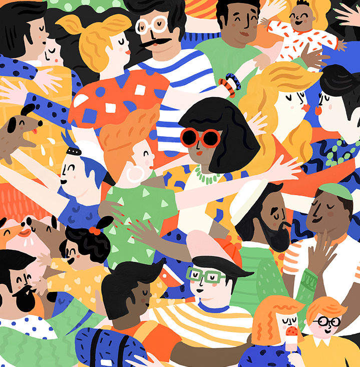 Ruby  Taylor, illustration, characters, drawn, colour, pattern, love
