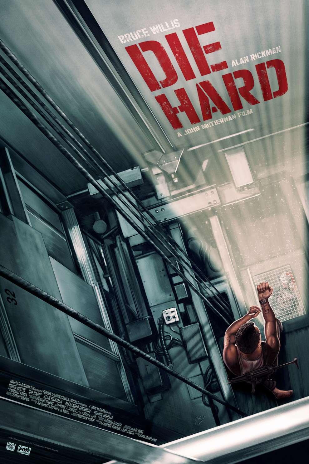 Sam  Gilbey, Digital painterly illustration of movie DIE HARD