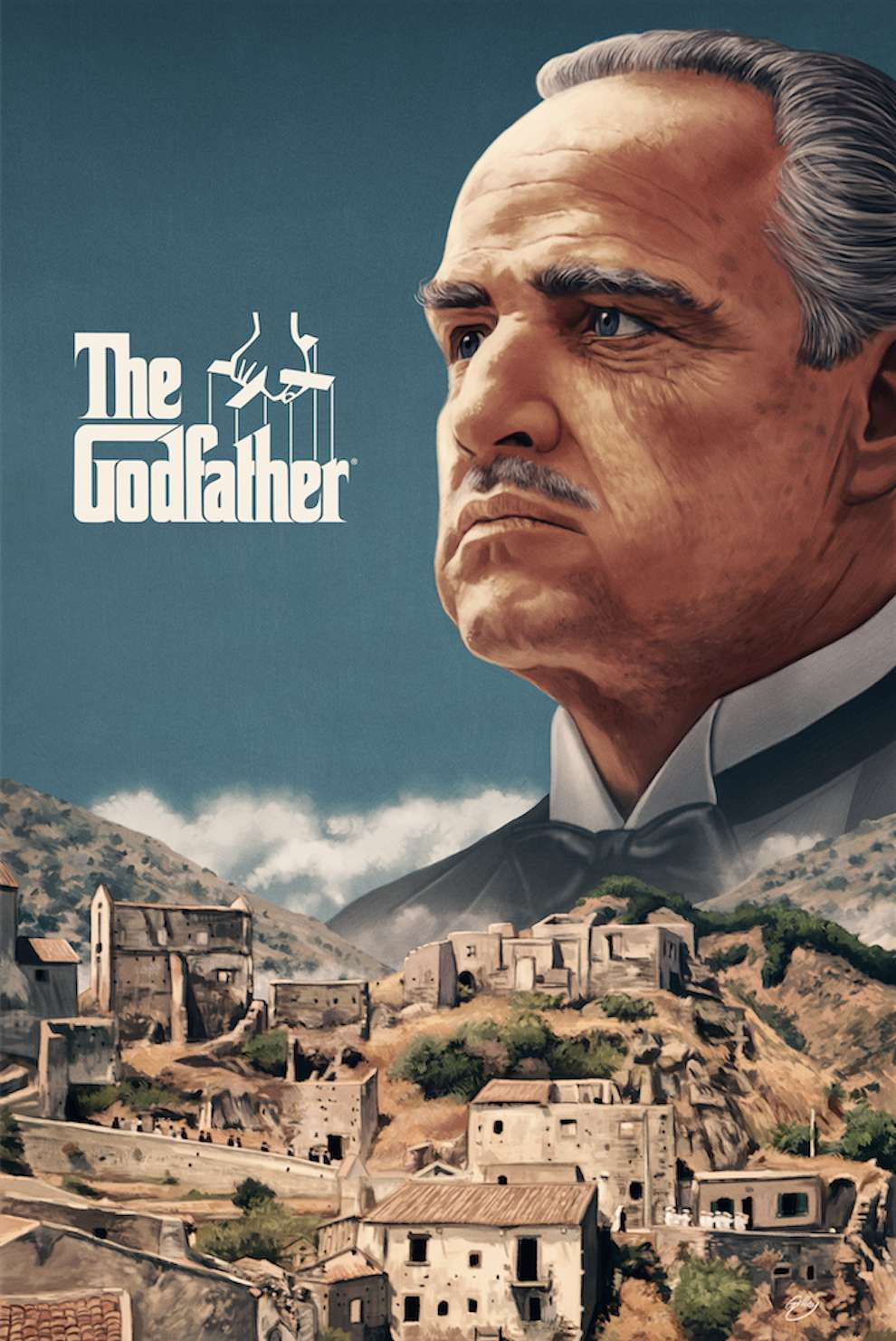 Sam  Gilbey, Painterly digital poster of movie the Godfather
