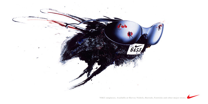 Simon Spilsbury, Illustration for a Nike advertising of a fly racing