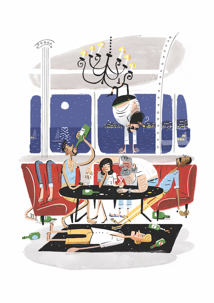 Stephen Collins, stephen collins, illustration, illustrator, editorial, publishing, typography, characters, witty, comical, funny, painterly, the guardian, magazine, newspaper, editorial, publishing,