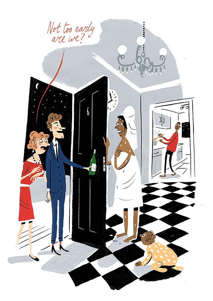 Stephen Collins, character, illustration, editorial, humor